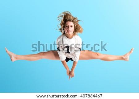 Woman dancing street dance - stock photo