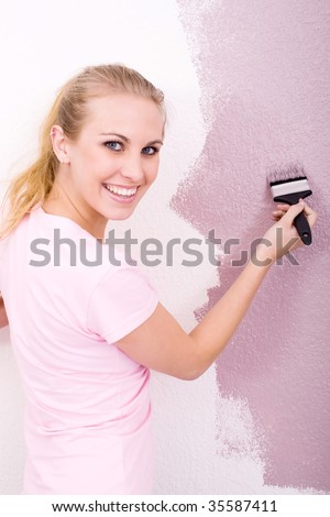 woman DIY - stock photo