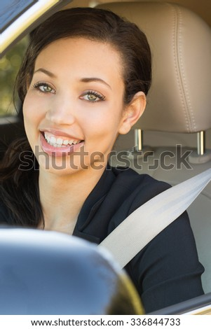 Woman driving. - stock photo