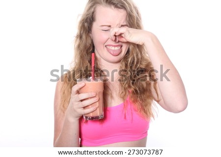Woman eating healthy - stock photo