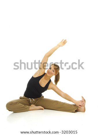 Woman exercising - stock photo
