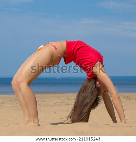 Woman Exercising Fitness  - stock photo