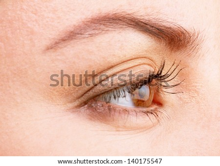 woman eye - stock photo
