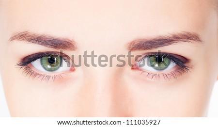 Woman eyes close up image - stock photo