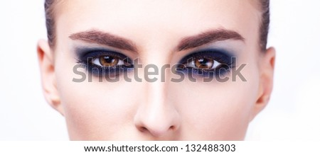 Woman eyes close up image - stock photo