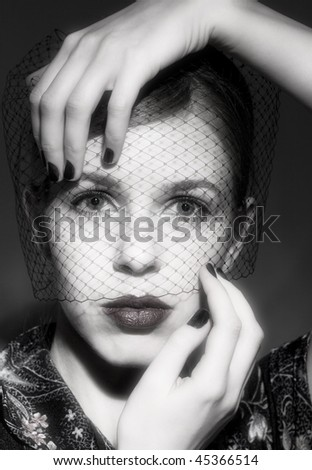 Woman face - stock photo