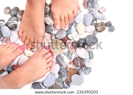 woman feet (pedicure) - stock photo