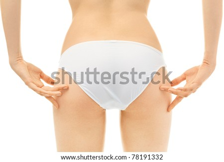 Woman Fingers Touching her body parts - stock photo