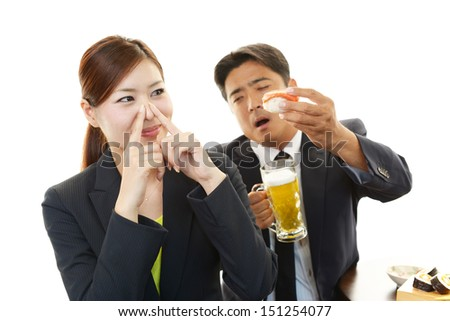 Woman frowning - stock photo