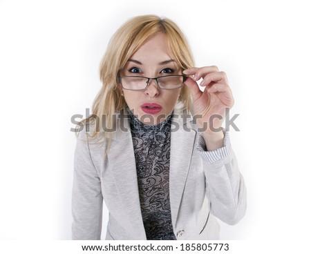 Woman glasses - stock photo