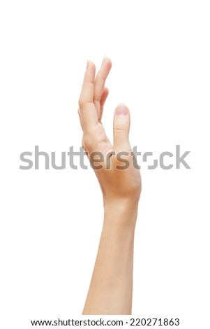 Woman hand healthcare skin on white background. isolated studio photoshoot - stock photo