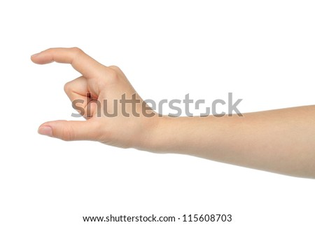 Woman hand on white background - stock photo