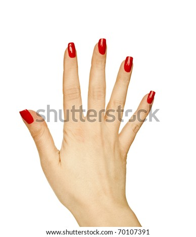 Woman hand showing gesture - stock photo