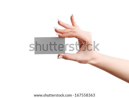 woman hands - stock photo