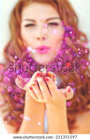 Woman happiness  - stock photo
