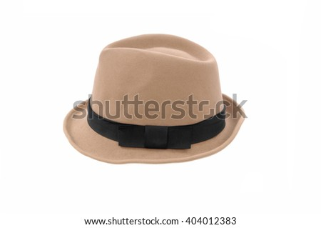 Woman hat isolated   - stock photo