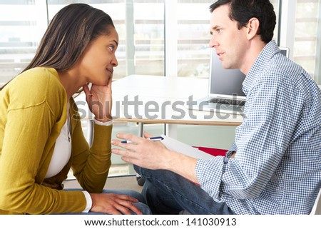 Woman Having Counselling Session - stock photo