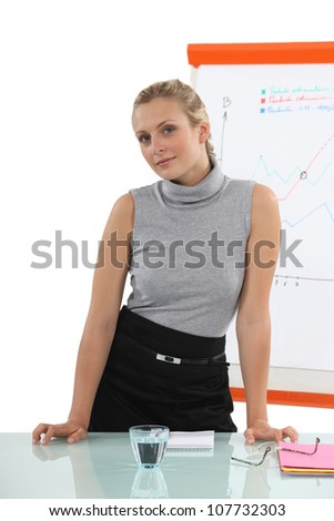 Woman in a presentation - stock photo