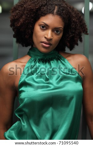 Woman in fashionable apparel - stock photo