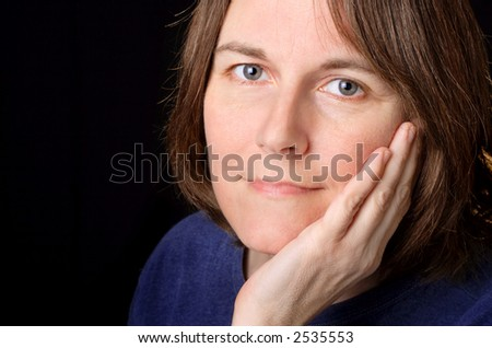 woman in her 40's - stock photo