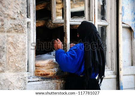 woman in middle east - stock photo