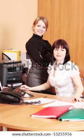woman in office - stock photo