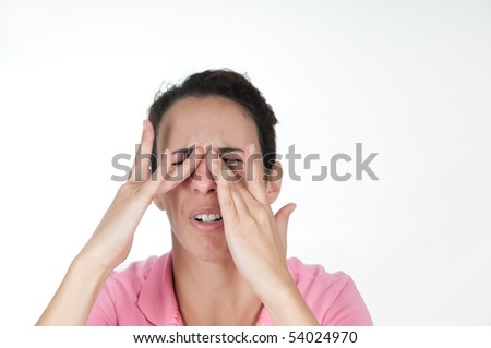 woman in pain - stock photo