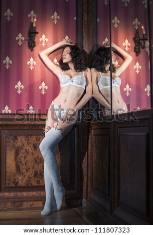 Woman in underwear - stock photo