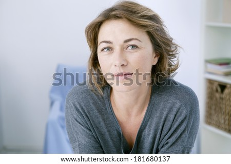 Woman Indoors - stock photo