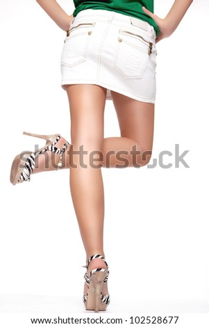 Woman is giving a sign - stock photo