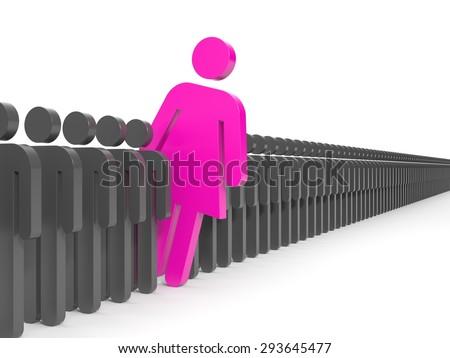 Woman leadership - stock photo