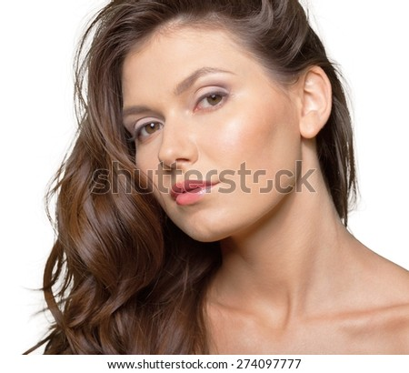 Woman, model, hand. - stock photo