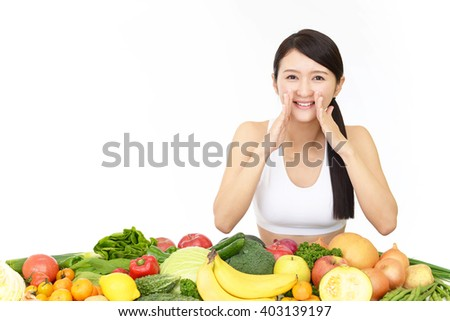 Woman on diet - stock photo