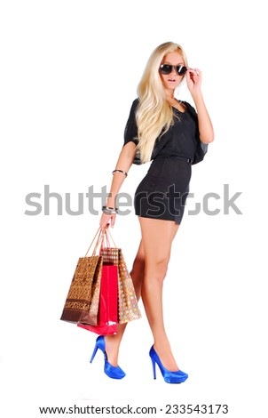 Woman on the shopping - stock photo