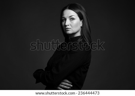woman portrait - stock photo