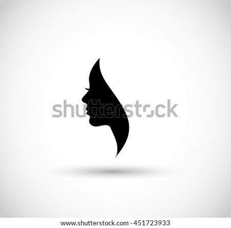 Woman profile beauty illustration  - stock photo