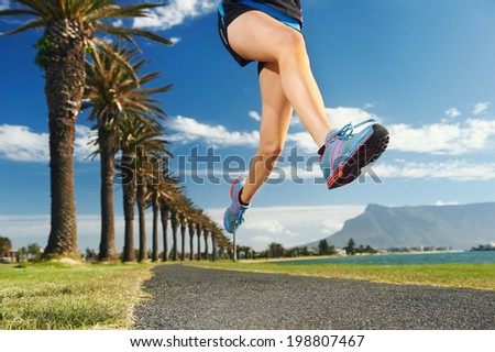 Woman running for fitness marathon exercise training - stock photo