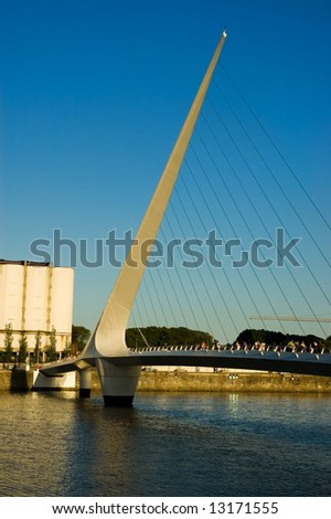 Woman´s bridge, Puerto Madero, Buenos Aires, Argentina - stock photo