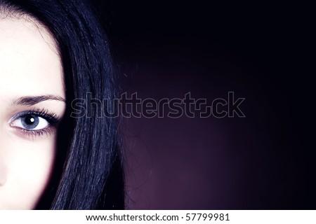 woman's face. close-up - stock photo