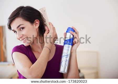Woman'S Haircare - stock photo