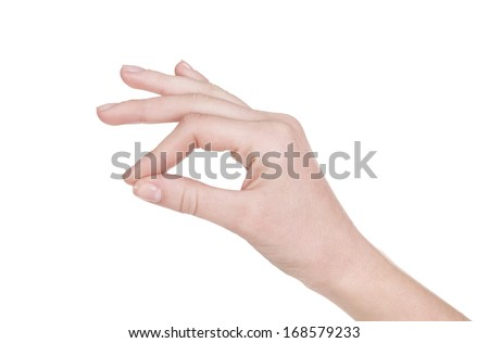 woman's hand holding something - stock photo