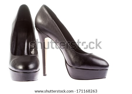 woman's high heel shoes isolated on white background  - stock photo