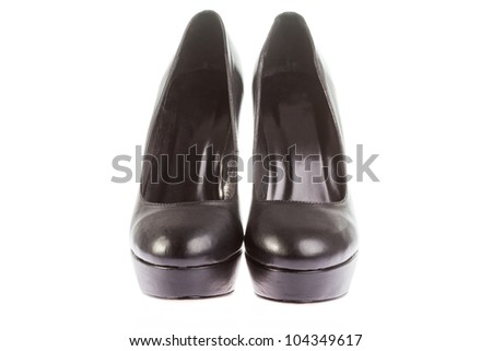 woman's high heels isolated background - stock photo