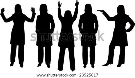 woman silhouette - stock photo