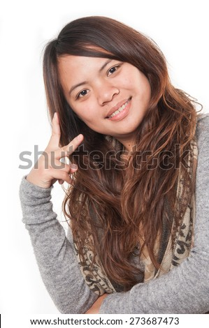woman smiling - stock photo