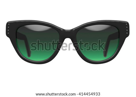 Woman sunglasses isolated on white background. With clipping path. 3D render - stock photo
