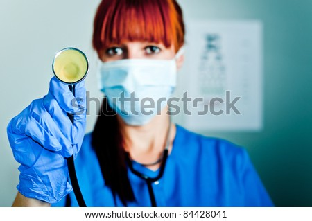 woman surgeon - stock photo