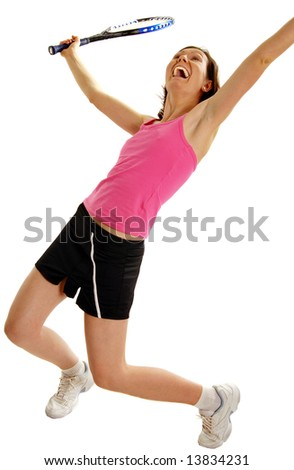 Woman Tennis Player - stock photo