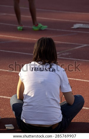 woman trainer - stock photo