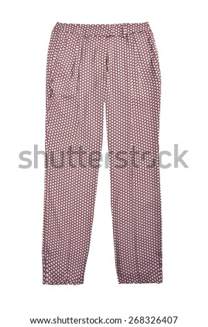 woman trouser isolated - stock photo